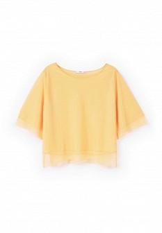 Женская желтая футболка Mango