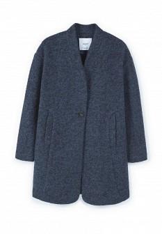 Женское синее пальто Mango