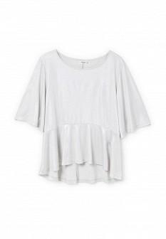Женская серебряная футболка