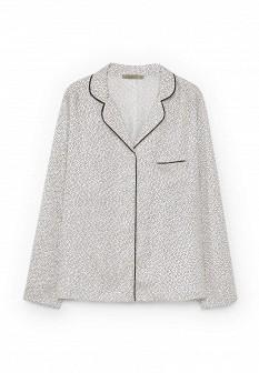 Женская белая черная рубашка