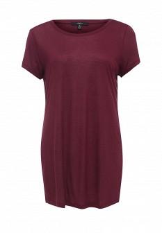 Женская бордовая футболка