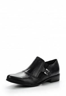 Женские черные осенние кожаные полуботинки