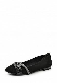 Женские черные текстильные балетки