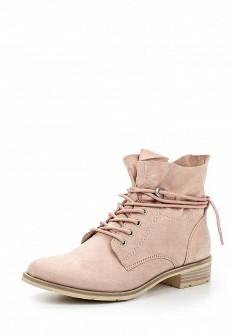 Женские розовые осенние ботинки