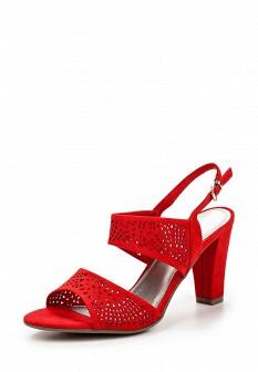 Женские красные босоножки на каблуке
