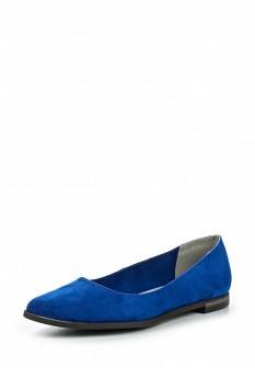 Женские синие текстильные туфли