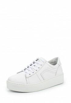 Женские белые кожаные кеды на каблуках