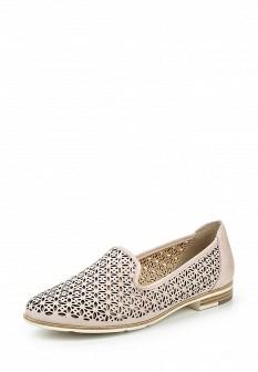 Женские розовые кожаные туфли лоферы