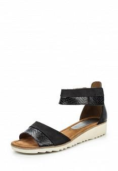 Женские черные кожаные сандалии из нубука с высоким голенищем