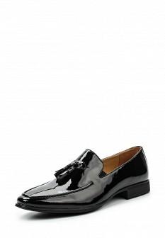 Мужские черные осенние кожаные лаковые туфли