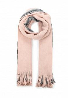 Женский розовый серый осенний шарф