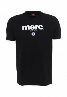 Мужская черная футболка MERC