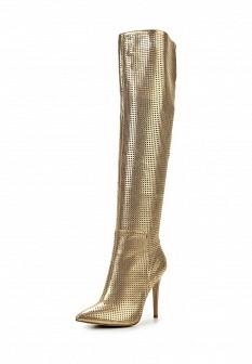 Женские осенние кожаные сапоги на каблуке
