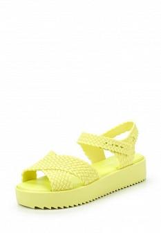 Женские зеленые сандалии на каблуке