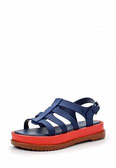 Женские синие сандалии на каблуке