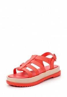 Женские розовые сандалии на каблуке