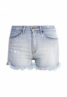 Женские голубые итальянские осенние джинсовые шорты