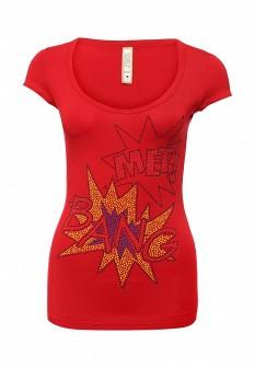 Женская красная итальянская осенняя футболка