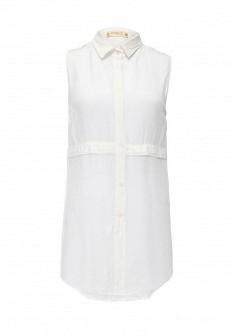 Белая итальянская осенняя блузка