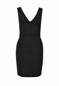 Черное итальянское осеннее платье