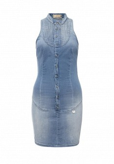 Осеннее джинсовое платье MET