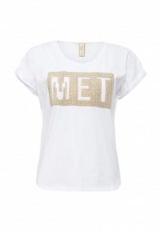 Женская белая футболка MET