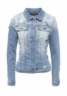 Женская голубая итальянская джинсовая куртка