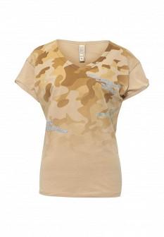 Женская бежевая футболка MET
