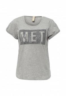 Женская серая футболка MET