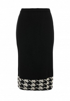 Черная осенняя юбка Milana Style