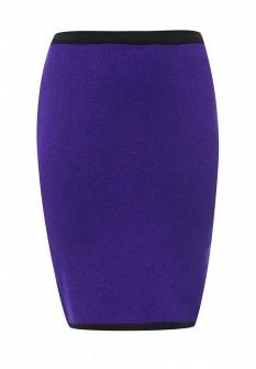 Фиолетовая осенняя юбка Milana Style
