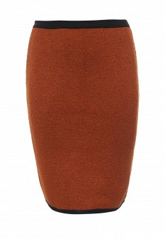 Оранжевая осенняя юбка Milana Style