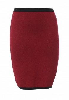 Красная осенняя юбка Milana Style