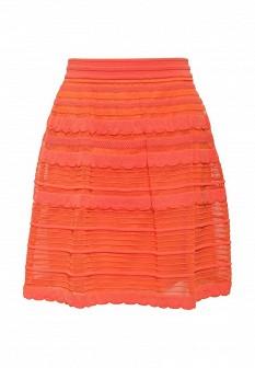 Оранжевая итальянская юбка M Missoni