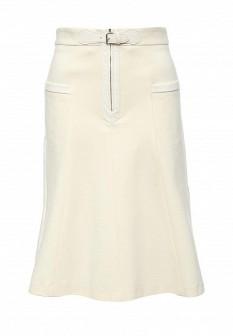 Бежевая осенняя юбка