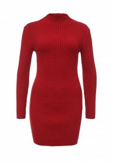 Красное осеннее платье Morgan