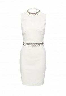 Белое осеннее платье Morgan