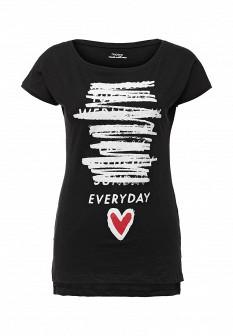 Женская черная футболка Motivi