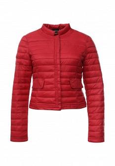 Женская красная осенняя куртка