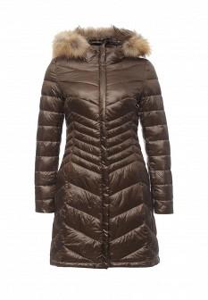 Женская коричневая осенняя куртка
