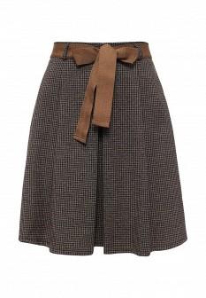 Коричневая итальянская осенняя юбка