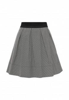 Белая черная итальянская юбка