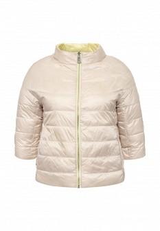 Женская бежевая желтая утепленная осенняя куртка