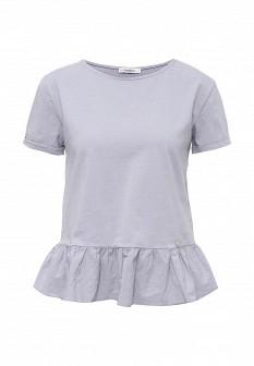 Женская голубая фиолетовая футболка