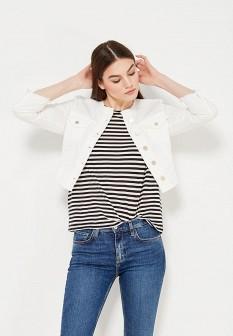 Женская белая джинсовая куртка