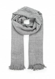 Женский серый осенний шарф