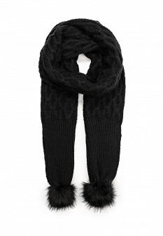 Женский черный осенний летний шарф