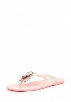 Женские белые розовые шлепанцы