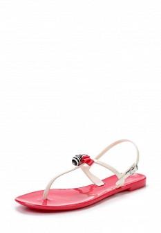 Женские бежевые розовые сандалии