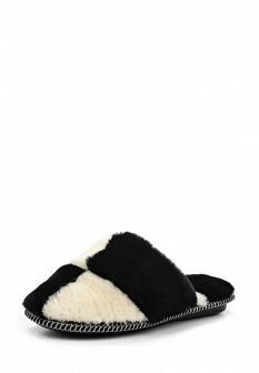 Женские белые черные осенние меховые тапочки